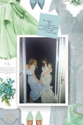 CATHERINE DEANE light blue lace dress