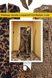 Bottega Veneta Leopard-Print Mohair Coat