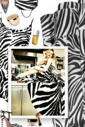 AQUAZZURA Candance zebra print pumps