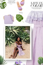 Bardot Lilac Dress