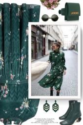 Sofiya Floral Ribbon Tie Dress TED BAKER