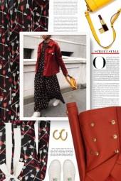 RED Valentino silk arrow print dress