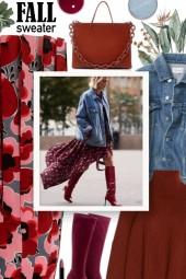 GUCCI Poppy-print pleated skirt