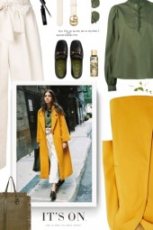 Dorothy Perkins coat in yellow