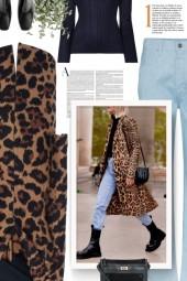Leopard-Print Mohair Coat