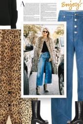 Leopard-print wool coat - fall style
