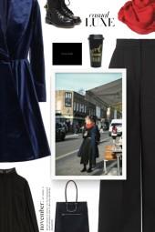 fall style - velvet princess coat