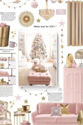 white, gold and pink