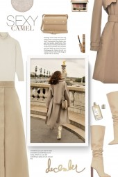 Camel Narciso Trench Coat by VIVETTA