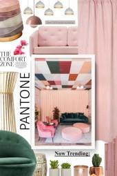 H&M velvet pink curtain
