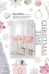 christmas time - white and pink