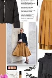 NICOLE BENISTI black puffer jacket
