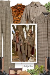Ava checked cotton-twill trench