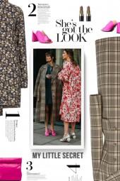 street style - PRADA plaid wool coat