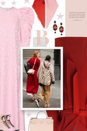 winter - red and pink