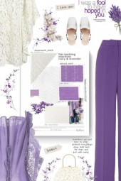 I love you - lilac and white