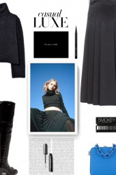 GABRIELA HEARST Wesley pleated flannel skirt