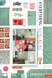 mint and peach