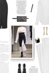Alexander McQueen Pinstriped skirt
