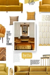 mustard yellow shell chair