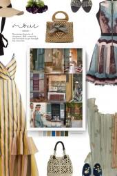 . Fashion Woven Bow Portable Bag