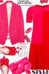 Hot Pink and Red