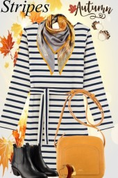 Early Autumn Striped Dress
