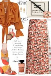 Spring Prada Printed Skirt