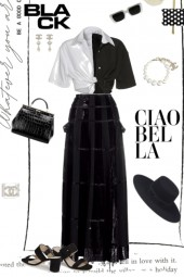 Chanel Earrings -Black and White Set