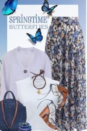 Soft Floral Skirt