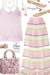Dior Pink Floral Bag
