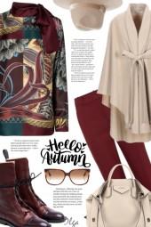 Ferragamo silk blouse outfit