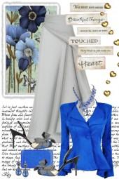 Beautiful things in Royal Blue & Gray