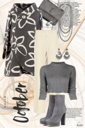 Autumn in Grey & Ivory