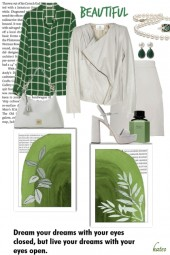 Off White and Shades of Green