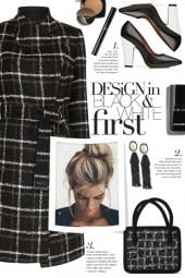 Black Plaid Coat!