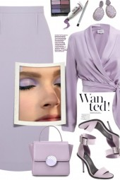 Lilac Satin Blouse!