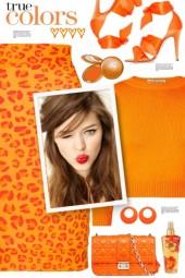 Orange Leopard Skirt!