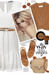 White Eyelet Dress!