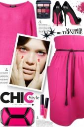 Pink High Waist Skirt!