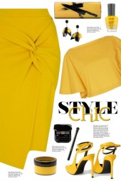 Yellow Pencil Skirt!