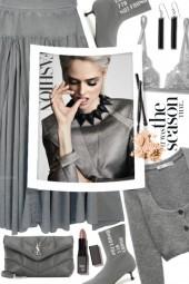 Grey Denim Skirt!