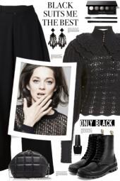 Black Crochet Sweater!