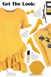Marigold Ruffle Dress!