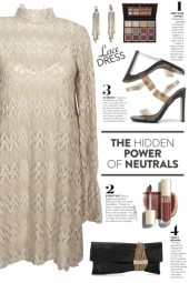 Taupe Lace Dress!