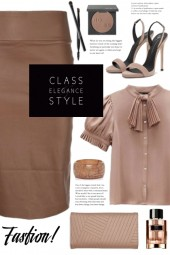 Brown Pencil Skirt!