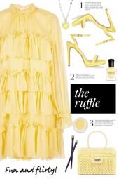 Yellow Tiered Ruffle Dress!