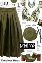 Burberry Olive Green Skirt!
