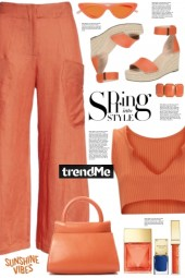 Burnt Orange Rib Top!
