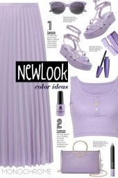 Lilac Satin Pleated Skirt!